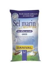 Atlanthavssalt grovt Danival 1 kg/Merisuola karkea